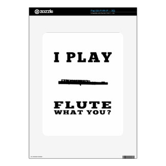 I Play Flute Decals For iPad