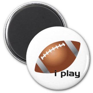 i Play Football Magnet