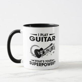 I play guitar mug
