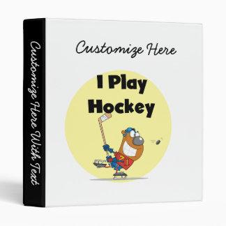 I Play Hockey Tshirts and Gifts 3 Ring Binder