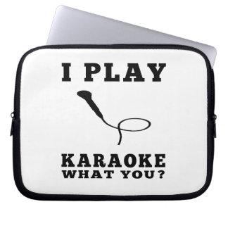 I Play Karaoke Laptop Computer Sleeves