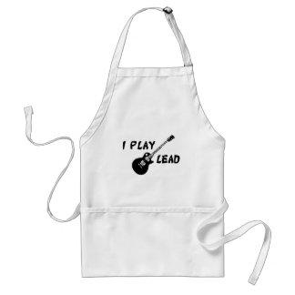 I Play Lead Guitar Adult Apron