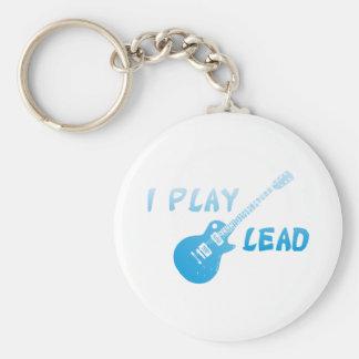 I Play Lead Guitar Basic Round Button Keychain