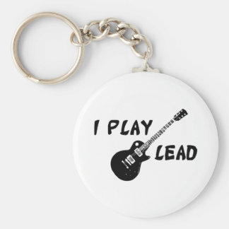 I Play Lead Guitar Keychain