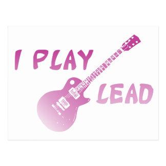 I Play Lead Guitar Postcard