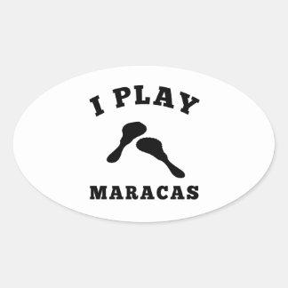 I Play Maracas Sticker