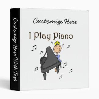 I Play Piano T-shirts and Gifts 3 Ring Binder