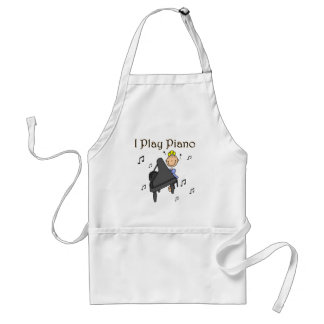 I Play Piano T-shirts and Gifts Adult Apron