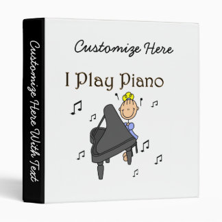 I Play Piano T-shirts and Gifts Binder