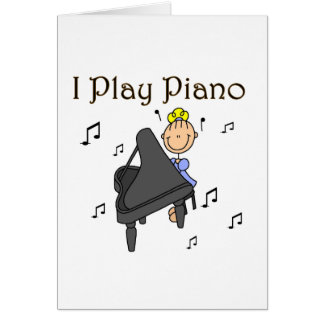 I Play Piano T-shirts and Gifts Card