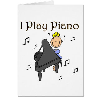 I Play Piano T-shirts and Gifts Greeting Card