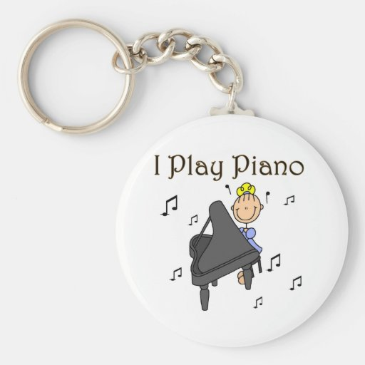 I Play Piano T-shirts and Gifts Key Chains