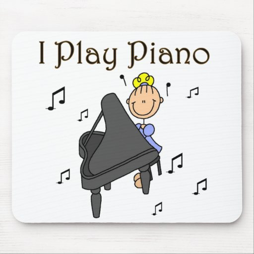I Play Piano T-shirts and Gifts Mousepad