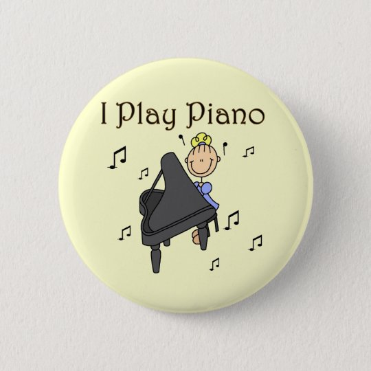 I Play Piano T-shirts and Gifts Pinback Button