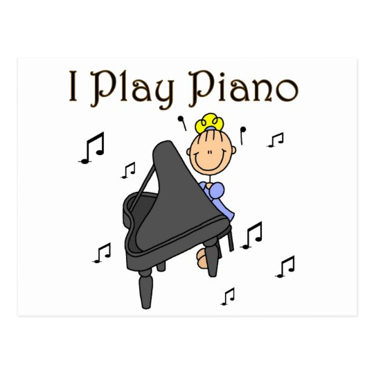 I Play Piano T-shirts and Gifts Postcard