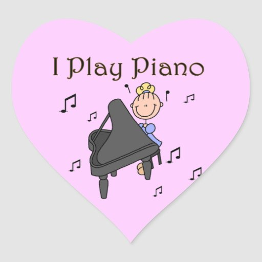 I Play Piano T-shirts and Gifts Sticker