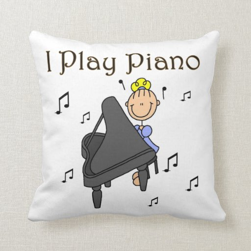 I Play Piano T-shirts and Gifts Throw Pillow