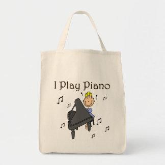 I Play Piano T-shirts and Gifts Tote Bag