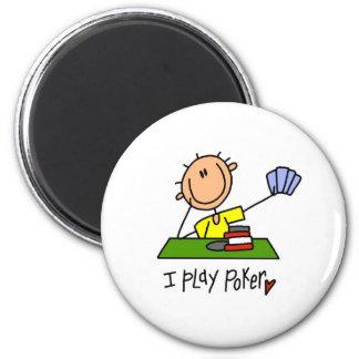 I Play Poker 2 Inch Round Magnet
