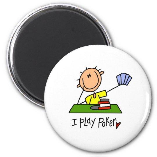 I Play Poker Magnet
