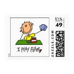 I Play Poker Postage Stamp