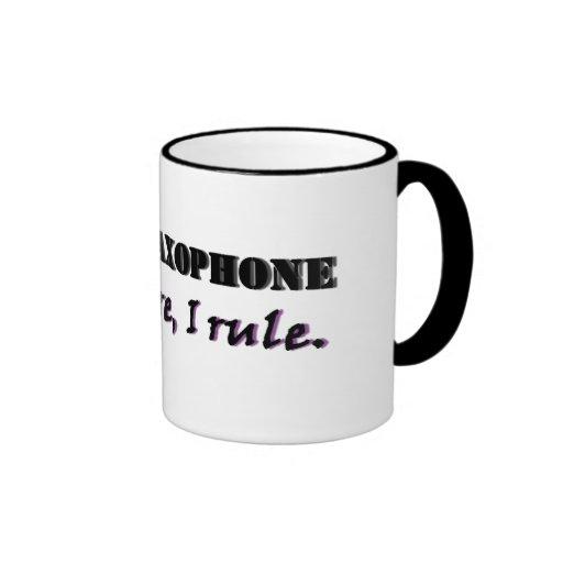 I Play Saxophone Ringer Mug