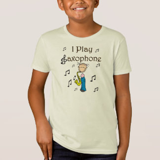 I Play Saxophone Stick Figure T-shirts and Gifts