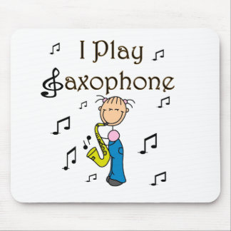I Play Saxophone Stick Figure T-shirts and Gifts Mouse Pad