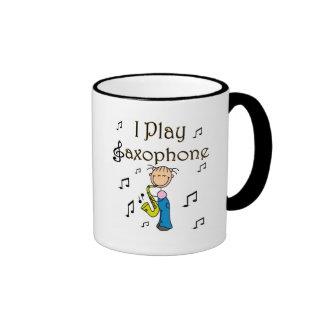 I Play Saxophone T-shirts and Gifts Ringer Coffee Mug