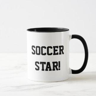 I play soccer, just for kicks! Soccer star! Mug