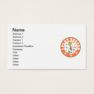 I Play Soccer T-shirts and Gifts Business Card