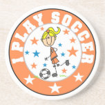 I Play Soccer T-shirts and Gifts Drink Coaster