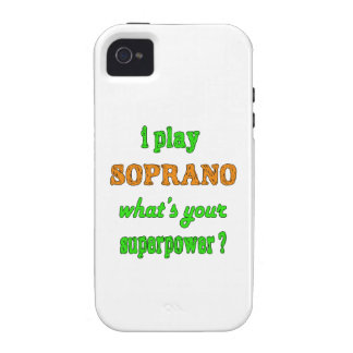 I Play Soprano iPhone 4/4S Covers
