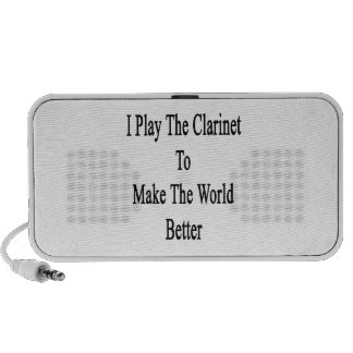I Play The Clarinet To Make The World Better Notebook Speaker