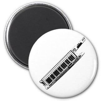 I Play the Keytar 2 Inch Round Magnet
