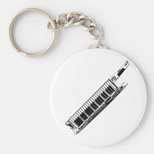 I Play the Keytar Keychains