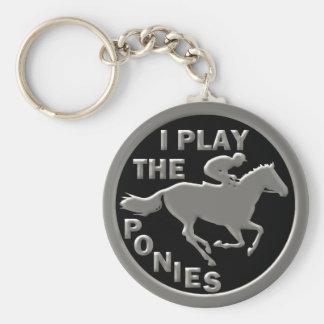 I Play The Ponies Keychain