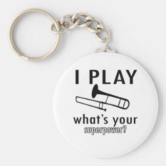I play the trombone keychain