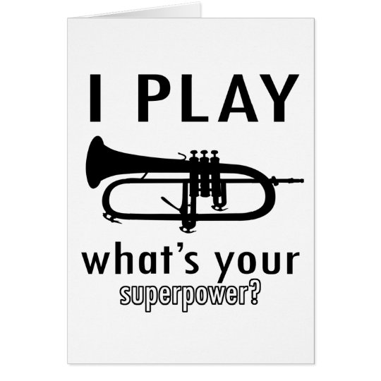I play the trumpet card