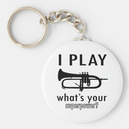 I play the trumpet keychain