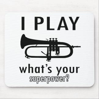 I play the trumpet mouse pad
