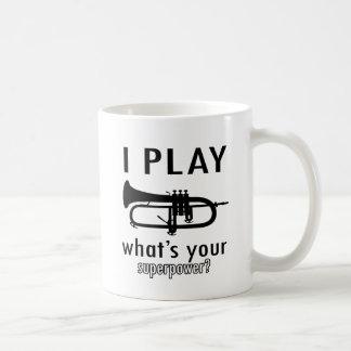 I play the trumpet classic white coffee mug