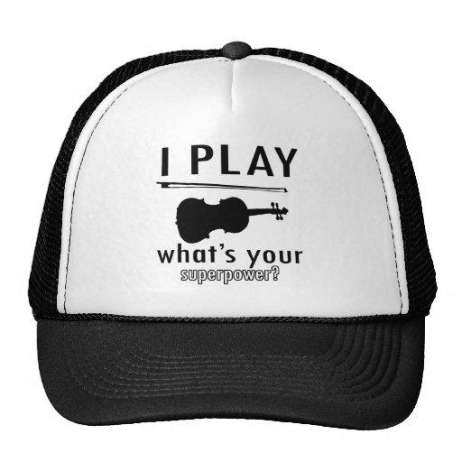 I play the Violin Trucker Hat