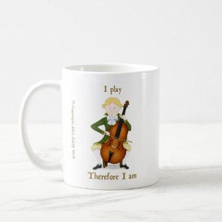 I Play Therefore I Am Classic White Coffee Mug