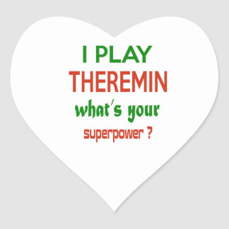 I play Theremin what's your superpower ? Heart Sticker
