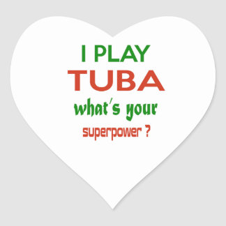 I play Tuba what's your superpower ? Heart Sticker