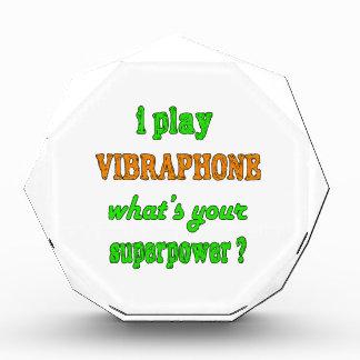 I Play Vibraphone Acrylic Award
