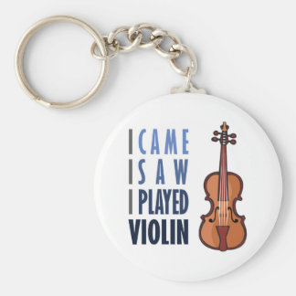 I Play Violin Keychain