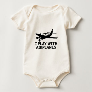 I Play With Airplanes Baby Bodysuit