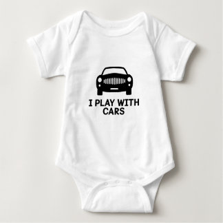 I Play With Cars Baby Creeper